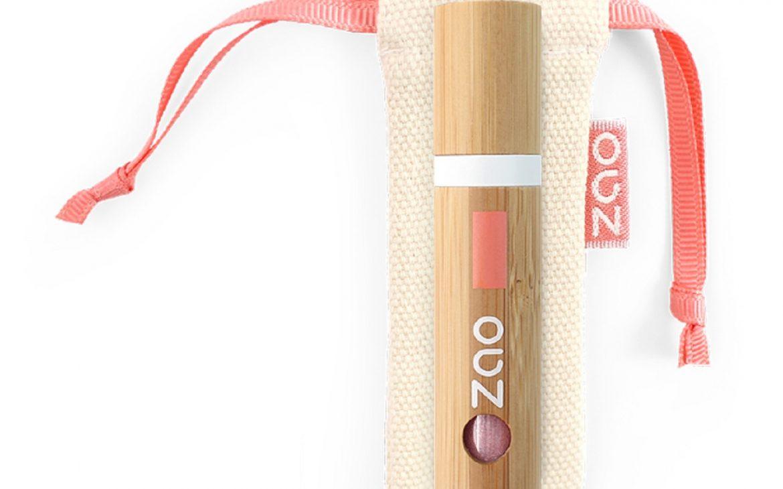 Zao Lip Gloss im Nude Look in trendigem Baumwollsäckchen