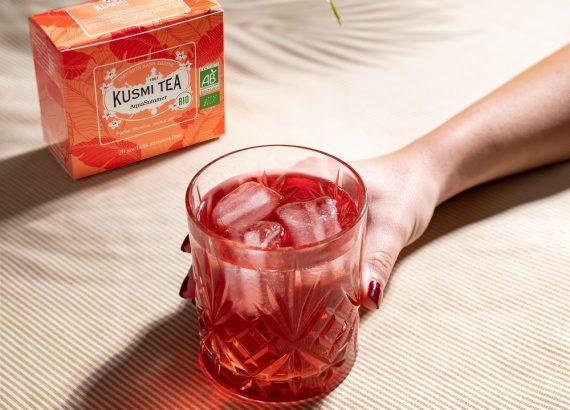 Der neue Aqua Summer Bio-Früchtetee von Kusmi Tea.